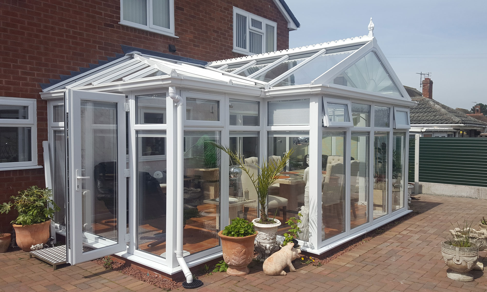 T Shape Gable ended Conservatory Shropshire