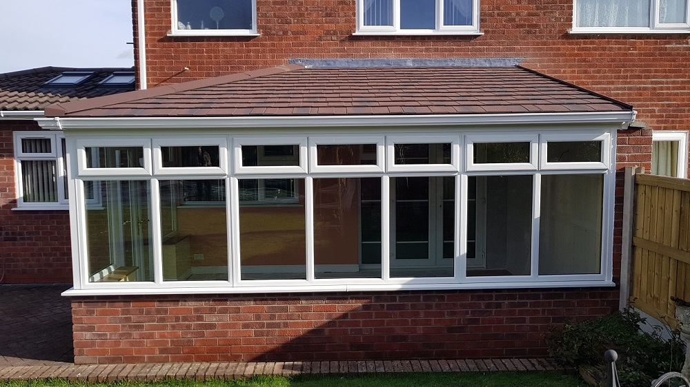 New tiled conservatory roof installation