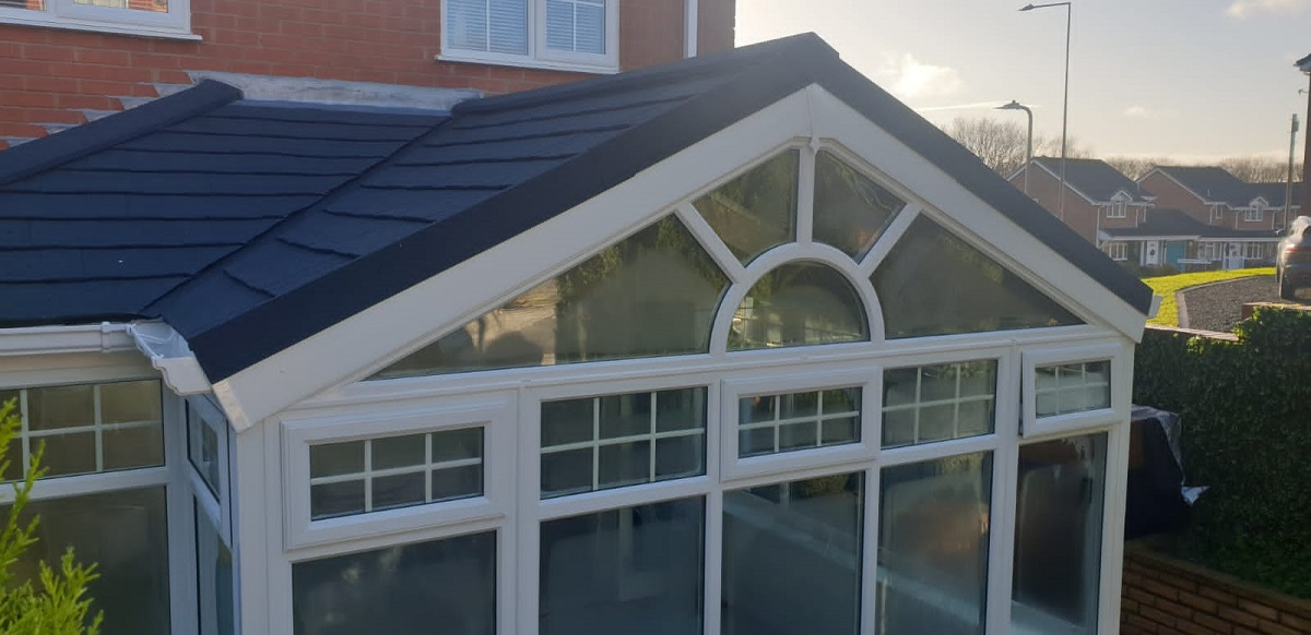 Gable Ended Conservatory Roof Replacement in Aqueduct, Telford