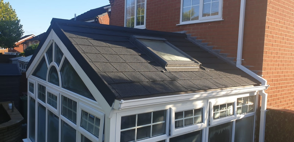 Skylight In Gable Ended Conservatory Roof
