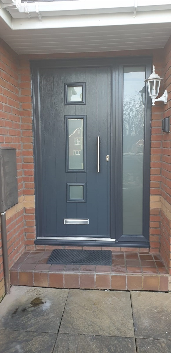 Black External Solidor Composite Door fitted in Admaston Telford